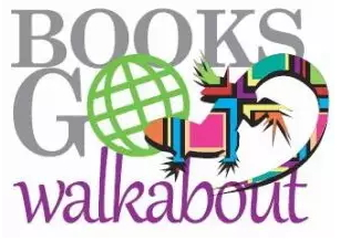 Books Go Walkabout logo - image and web link