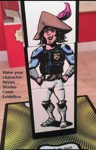 Ahoy there? - panels image at the Comics Exhibition, Seven Stories